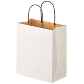 リバーシブルペーパー手提げ 丸紐 白 S 1袋(10枚入) スーパーバッグ