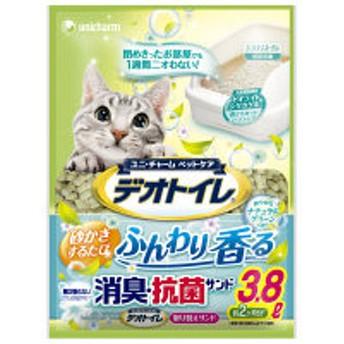 デオトイレ ふんわり香る 消臭・抗菌サンド ナチュラルグリーンの香り 3.8L(約2ヶ月分)ユニ・チャーム