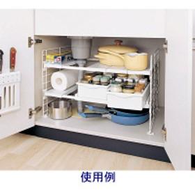 アイリスオーヤマ シンク下マルチ伸縮棚 白 2段 UMD-2V(246255) 収納