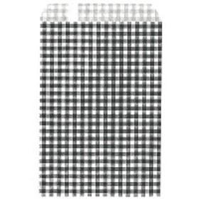 ササガワ ギフトバッグ 平袋 幅105×高さ150mm ギンガムくろ 50-1201 1袋(200枚入) (取寄品)