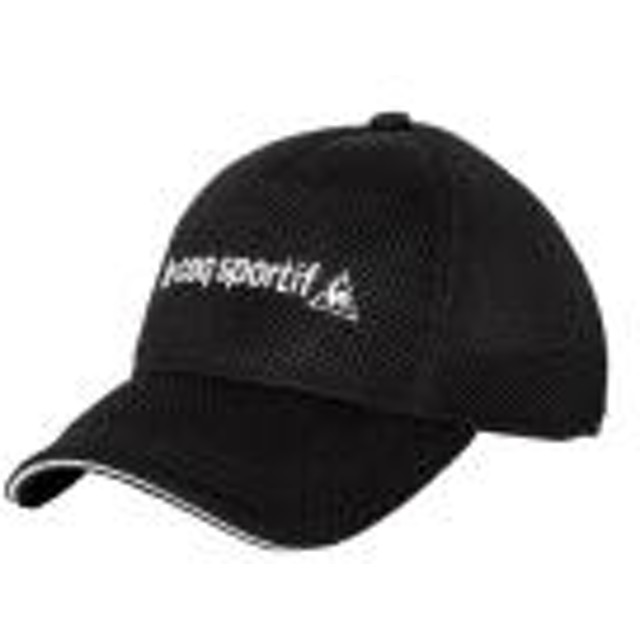 le coq sportif(ルコックスポルティフ) スポーツアクセサリー 帽子 メンズメッシュキャップ QMBLJC01 BLK F BLK