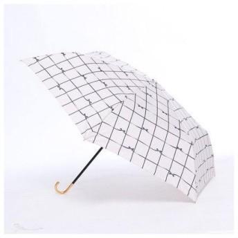 ダブリュピーシー w.p.c 雨傘 リボンチェックmini (ピンク)
