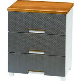 天馬 Fits Plus(フィッツプラス) メッシュ 幅55cm 3段 木天板チェスト (FM5503 ブラウン) 1台 (取寄品)
