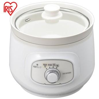 スロークッカー ホワイト 鍋 調理鍋 なべ PSC-20K-W アイリスオーヤマ:予約品 一週間以内に発送予定
