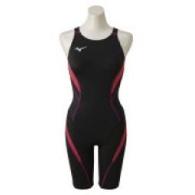 (送料無料)MIZUNO(ミズノ)スイミング レディース競泳 ATVハーフスーツ(オープン)N2MG824096 レディース ブラックxピンク