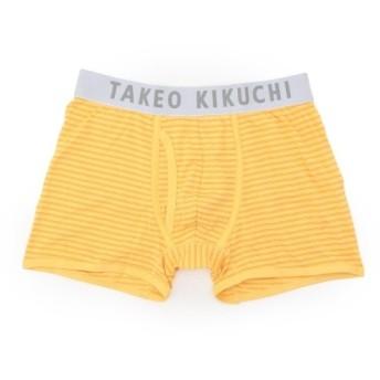 タケオキクチ ボーダーストレッチボクサーパンツ メンズ イエロー(332) 03(L) 【TAKEO KIKUCHI】
