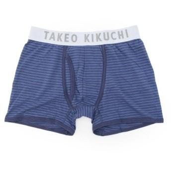 タケオキクチ ボーダーストレッチボクサーパンツ メンズ ブルー(393) 03(L) 【TAKEO KIKUCHI】