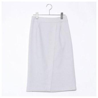 コムサイズム COMME CA ISM リネンライクツイルタイトスカート【セットアップ対応】 (ライトグレー)