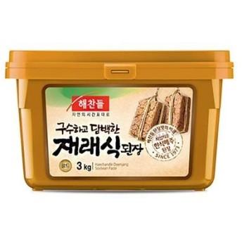 【ヘチャンドル】デンジャン(味噌)3kg■★【韓国食品・韓国食材】韓国料理