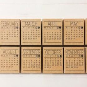 NEW! 2018年カレンダースタンプ 12ヶ月セット マンスリーはんこ ミニカレンダー 手作りカレンダー