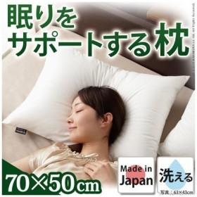 【納期目安:1週間】ナカムラ 90400030 リッチホワイト寝具シリーズ 新触感サポート枕 70x50cm