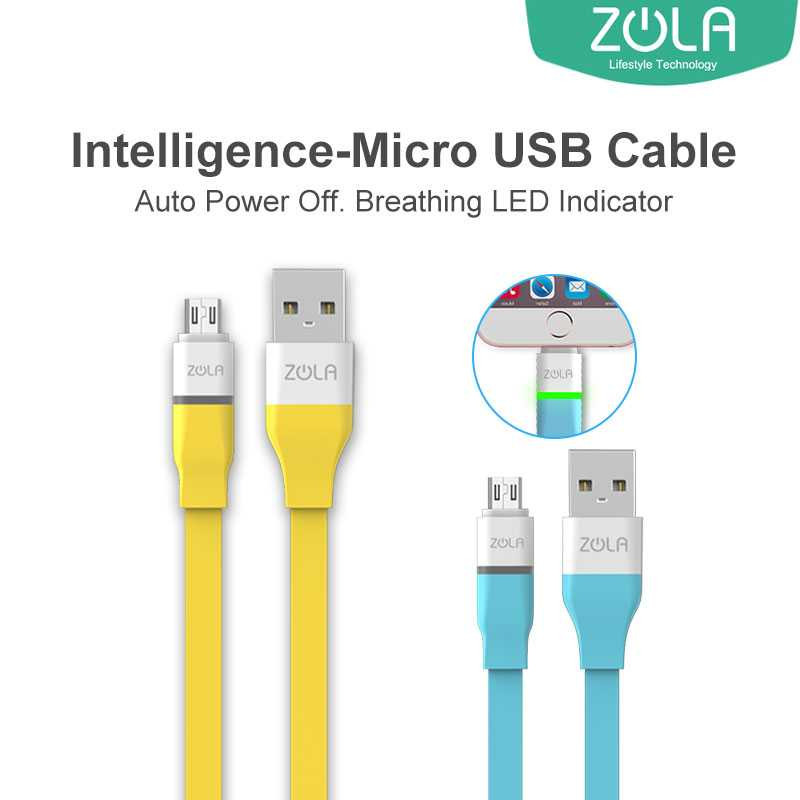 Zola Intelligence Kabel Data & Charging Mikro USB Fast Charge 2.1A