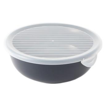 【HOME COORDY】そのまま保存食器 丸(大) ネイビー 丸・大 保存容器