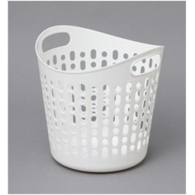 アイリスオーヤマ ソフトバスケット Mサイズ(穴あり) ピュアホワイト SBK-400