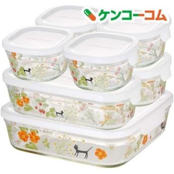 iwaki シンジカトウ パック & レンジ システムセット colorful herbs PS-PRNSNB7 ( 1セット )
