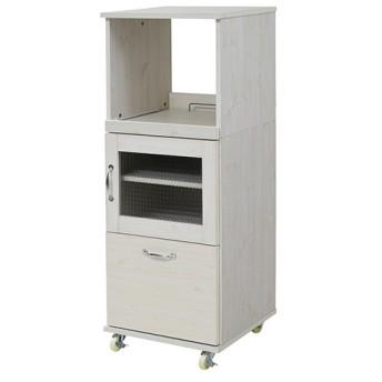 スリム コンパクト 食器棚 レンジ台 レンジラック 幅45 H120/FLL-1002-WH ホワイト