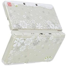 New3DS用ハードカバー堅装飾カバー透(雪華に雪うさぎ)【New3DS】