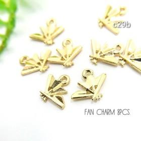 8個セット☆和風なmini扇子のチャーム【c29c】-