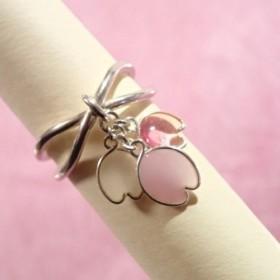 受注製作 銀線環 桜花弁三色