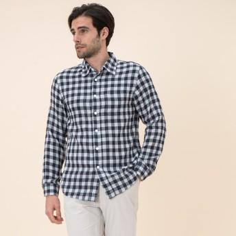 AIGLE メンズ メンズ 吸水速乾 リバーシブルシャツ ZCH013J DARK NAVY (075) シャツ・ポロシャツ