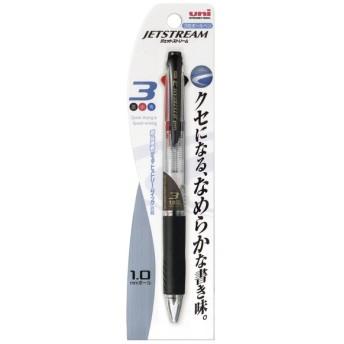 <三菱鉛筆> ジェットストリームボールペン 中字1.0mm 3色 透明(パック品) SXE3400101P.T