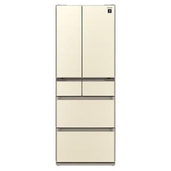 シャープ SHARP 冷蔵庫 フレンチドア プラズマクラスター搭載 430L・6ドア シャンパンゴールド SJ-GS43C-N