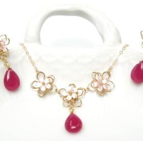 【14kgf】cherryblossomネックレス