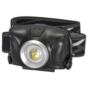 オーム電機LEDヘッドライトブラックLC-SYW1-K