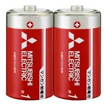 三菱単1形マンガン乾電池 2個入R20PD/2S
