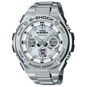 カシオソーラー電波腕時計G-SHOCK G-STEELホワイトGST-W110D-7AJF