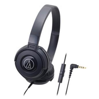 オーディオテクニカスマートフォン用密閉ヘッドバンド型ヘッドフォンブラックATH-S100ISBK
