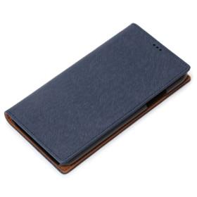 PGAiPhone X用フリップカバーネイビーPG-17XFP46NV
