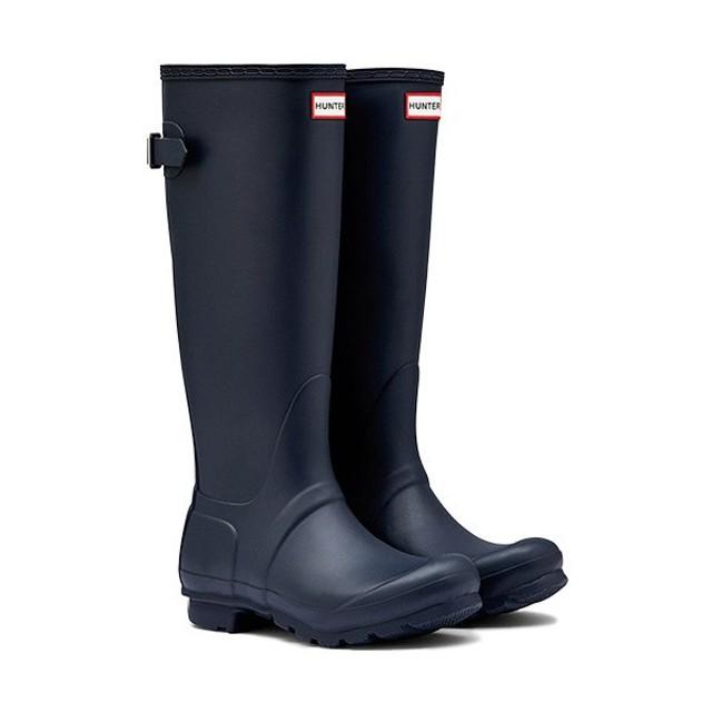f1abddb6023284 ハンター(HUNTER) オリジナル バックアジャスタブル トールブーツ ネイビー WFT1001RMA レディース 長靴 雨具 レインシューズ