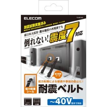 TV用耐震ベルト [~40V用 /強力粘着シールタイプ /2本入り] TS-001N2
