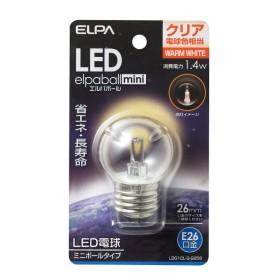 ELPA 朝日電器 LED電球 エルパボールmini 装飾電球ミニボール球タイプG40形 1.4W クリア電球色相当 E26 LDG1CL-G-G256