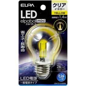 ELPA 朝日電器 LED電球 エルパボールmini 装飾電球PS形 1.4W 黄色 E26 LDA1CY-G-G559