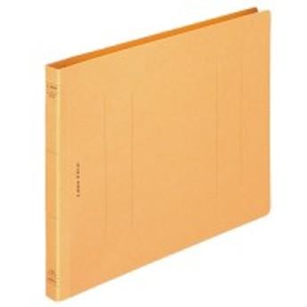 ライオン事務器 フラットファイル(環境) 樹脂押え具 B5ヨコ 150枚収容 背幅18mm 黄 1冊