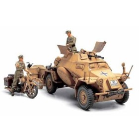タミヤ 1/35 ドイツ4輪装甲偵察車 Sd.Kfz.222 「北アフリカ戦線」【35286】プラモデル 【返品種別B】