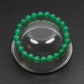 【メール便対応】【開運】グリーンアゲート(緑瑪瑙) 8mm玉【パワーストーン 天然石数珠】 ブレスレット┃