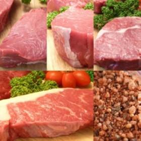 【送料無料】4種類8枚ステーキお試しセット!(スパイスのおまけ付き)/ビーフステーキ三昧 グラスフェッドビーフ