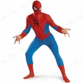 !! DX スパイダーマン 大人用 XL(42-46) 仮装 衣装 コスプレ ハロウィン 余興 大人 コスチューム 大きいサイズ アメコミ メンズ マーベル
