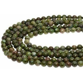 【天然石 丸ビーズ】緑銅鉱 6mm (半連 ブレスレット約1本分) パワーストーン