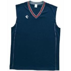 コンバース(CONVERSE) 2F ジュニアゲームシャツ CB501701 ネイビー/グレーモク 【バスケットボール ウエア ジュニア】