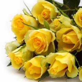 【人気ランキング 1位】敬老の日 ギフト 花81 おまかせ! 黄色オレンジ系バラの花束  (カーベラ、バラ、ユ