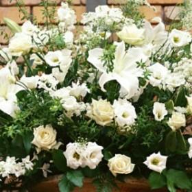 【人気ランキング 1位】敬老の日 ギフト 花48 おまかせ!ホワイト系フラワーアレンジメント (カーベラ、バラ