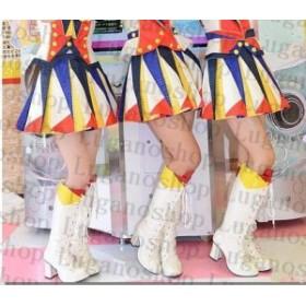 DB115  DanceEvolution AKB恋するフォーチュンクッキー風  コスプレ専用靴 ブーツ ハロウィン