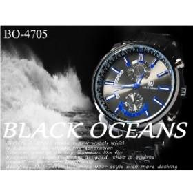 ブラックメタルバンド   ビッグフェイス メンズ 腕時計  全4色