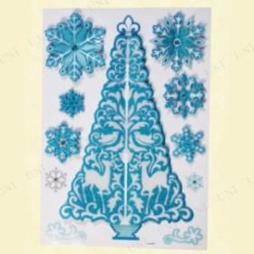 !! ウィンドウ3Dシール ツリー スノー 鏡 シール クリスマスパーティー パーティーグッズ 雑貨 クリスマス飾り 装飾 デコレーション 窓
