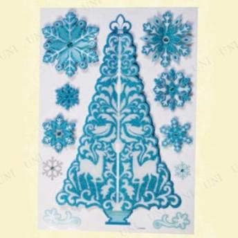 !! ウィンドウ3Dシール ツリー スノー パーティーグッズ 飾り クリスマスパーティー 雑貨 クリスマス飾り 装飾 デコレーション 窓 鏡 ウ