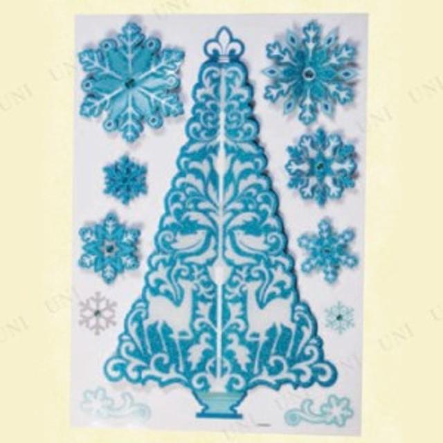ウィンドウ3Dシール ツリー スノー パーティーグッズ 飾り 鏡 シール ウォールステッカー クリスマス クリスマスパーティー 雑貨 クリス